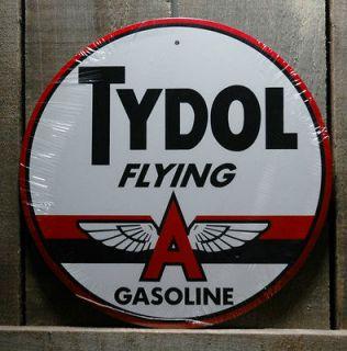 METAL TYDOL FLYING A GASOLINE & OIL LOGO TIN SIGN GARAGE CAR MAN CAVE
