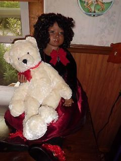 Christine Orange Maya 36 African American porcelain doll  w/large