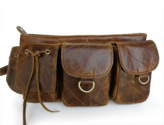 NEW MENS/ WOMENS VINTAGE LEATHER FANNY PACK, WAIST PACK, HIP BAG