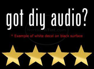 got diy audio vinyl wall art truck car decal sticker