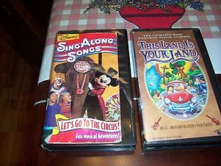 VHS Animated Kids Songs of Woody Guthrie & Disney Sing Along Songs