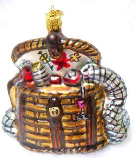 bass fishing tackle box basket glass christmas ornament new one