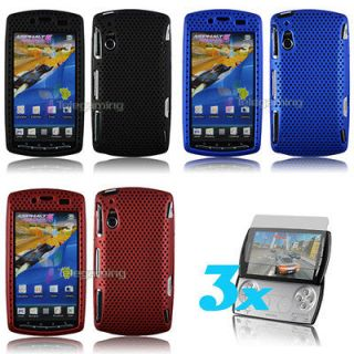 Newly listed 3X MESH HARD CASE+RUBBER SONY ERICSSON XPERIA PLAY Black