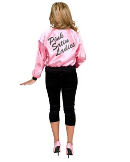 ladies printed pink satin jacket adult costume more options size