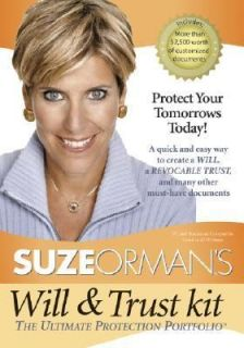 Suze Ormans Will and Trust Kit The Ultimate Protection Portfolio by