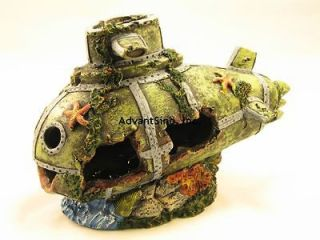10  Resin Sunken Submarine Decoration/Fish Refuge (SHIP FROM USA