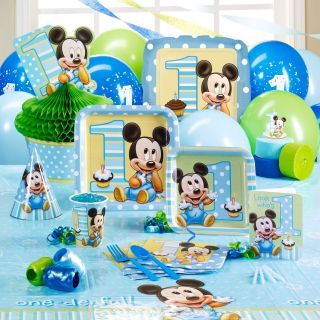 Baby Mickey Mouse 1st birthday party supplies u choose your own set