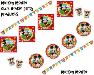 mickey mouse club house birthday party decorations plates napkins ect