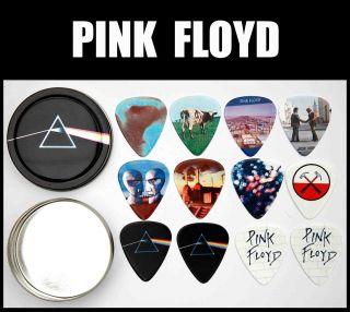 PINK FLOYD Tin of 12 Premium Guitar Picks 2 Sided