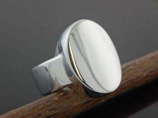 925 sterling silver oval signet ring size 8 time left