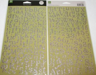 making memories shimmer silver large alphabet stickers