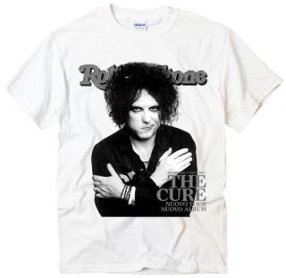the cure robert smith rock band music white t shirt