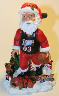PHILADELPHIA 76ERS SANTA BOBBLE HEAD FOREVER COLLECTIBLES 1 OF ONLY