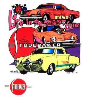 pro street hot rod studebaker 2 print 2xl t shirt