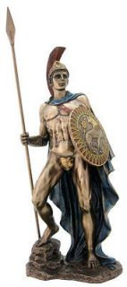 Ares Mars Greek God of War Statue in Bronze Finish 12.5 inches high
