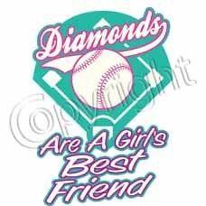Softball T Shirt Softball Diamonds Are A Girls Best Friend Tee Medium