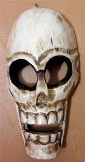 day of the dead halloween scary ghost wood skull mask