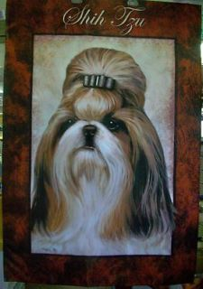 shih tzu dog breed 29 x 43 full size decorative