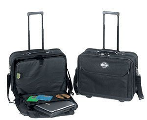 ROLLING LAPTOP COMPUTER CASE Briefcase Carry On Tote Bag Pilot