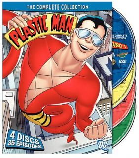 Plastic Man The Complete Collection DVD, 2009, 4 Disc Set