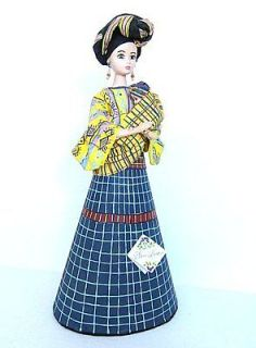 Guatemala Handpainted Mother & Infant Cloth Doll San Ivan Sacatepequez