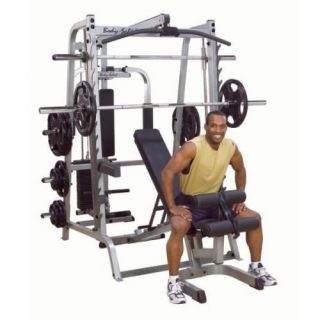 Body Solid GS348QP4 Series 7 Linear Bearing Smith Machine Deluxe Gym