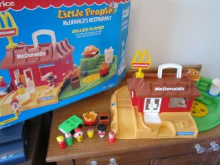 Little People McDonalds 2552 Box Ronald Play family great box car