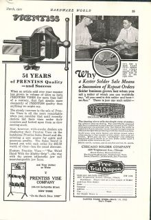 1922 ad prentiss vise hardware store display rack time left