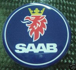 saab hood trunk emblem decal 3d 2 5 9 2x