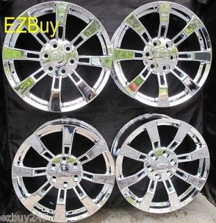 20 GMC CHEVROLET ESCALADE FACTORY STYLE NEW CHROME WHEELS RIMS SET OF