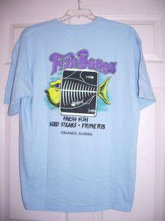 fish bones blue t shirt w fish graphic sz xl