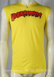Authentic HULK HOGAN Yellow Hulkamania Muscle Shitrt S M L XL 2XL