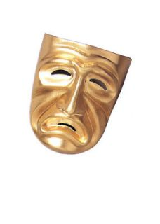 nwt disguise gold tragedy not comedy costume mask