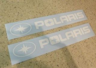 Polaris Snow Machine Decal Die Cut WHITE 9 2 PAK FREE SHIP + FREE