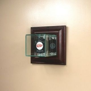 wall mounted single hockey puck glass display case nhl time