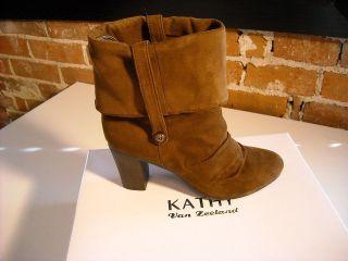 kathy van zeeland brown scrunchy ankle boots