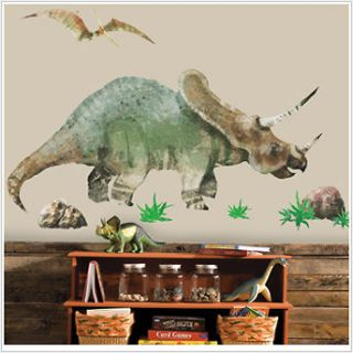 and PTERODACTYL wall stickers MURAL dinosaur decals 54x28 dino