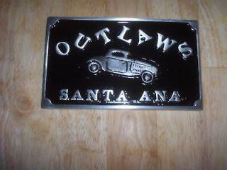 car club plaque outlaws santa ana hot rat rod plate