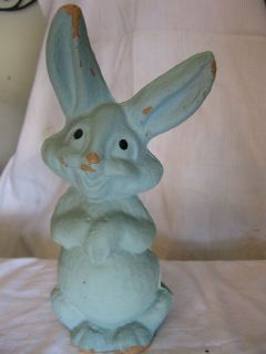 vintage easter bunny rabbit paper mache candy container time left