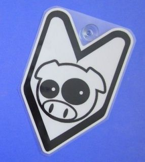 JDM Driver Badge Subaru Rally Pig Car Decal not vinyl sticker ##