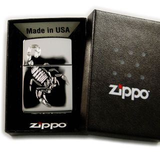 Lighter   Scorpion Zippo 250 With your name in Old English font