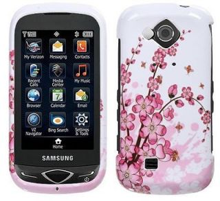 FLOWER Snap on Protector Cover for Samsung REALITY U820 Pink Hard Case