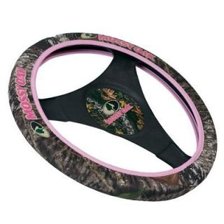 New Mossy Oak Logo Pink for Her Camo Neoprene Steering Wheel Cover
