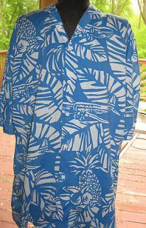 Newly listed Mens Magnum Blue & White Hawaiian Shirt LARGE in