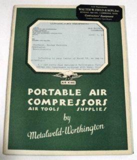 air king 1931 portable air compressor sales brochure time left