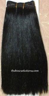 Brazilian Virgin Remy Human Hair Weave #1 in a Weft 14 inch 1 pc
