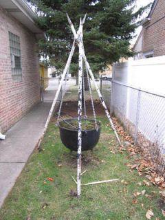 EXTRA LARGE Cast Iron Cauldron Pot 29 x18 RARE Rustic w Stand