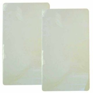 NEW Reston Lloyd Rectangular Stove Burner Covers Set of 2 White
