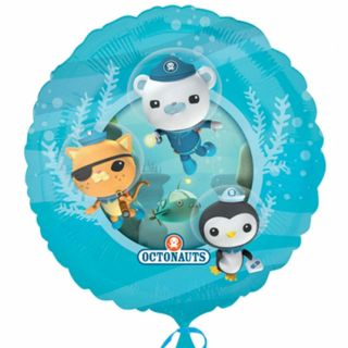 18 Octonauts Party Adventure Captain Barnacles Kwazii Peso Round Foil