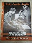 Browne Sharpe model 618 hand surface grinder grinding machine